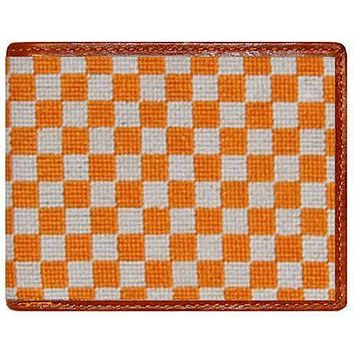 University of Tennessee Needlepoint Wallet in Orange and White by Smathers & Branson