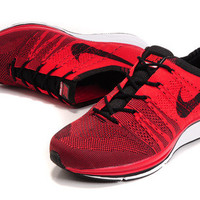 NFT009 - Nike Flyknit Trainer (Crimson Red/Black)