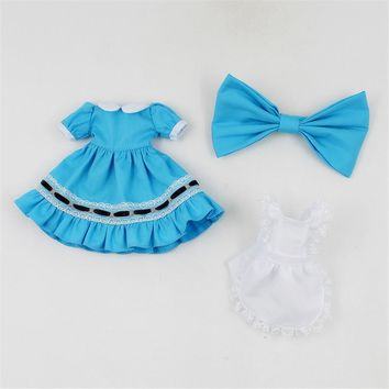 blyth doll clothes to Alice in Wonderland French maid dress it suitable for 1/6 30cm ICY joint normal Azone doll
