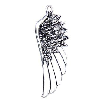 20 Pieces Large Angel Wings Cute Charm Feathers Findings Jewelry Pendant Necklaces Making 54 X 22mm