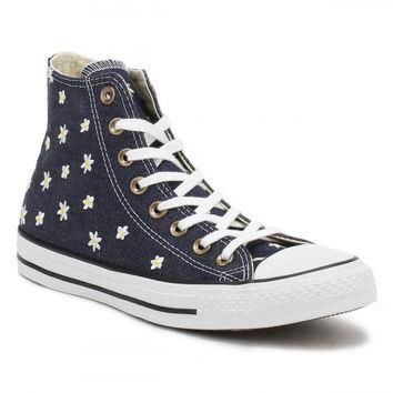 Converse All Star Chuck Taylor Womens Navy/Fresh Yellow Hi Top Trainers