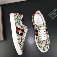 GUCCI Men's and Women's Fashion Casual Shoes F