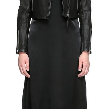 Mackage - MIREYA CROPPED LEATHER JACKET IN BLACK FOR WOMEN BY MACKAGE