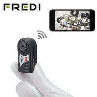 FREDI® Mini Portable P2P WiFi IP Camera Indoor/Outdoor HD DV Hidden Spy Camera Video Recorder Security Support iPhone/Android Phone/ iPad /PC Remote View