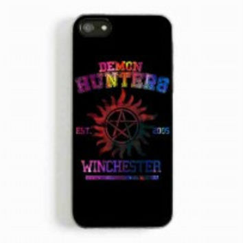 supernatural demon hunters galaxy for iphone 5 and 5c case