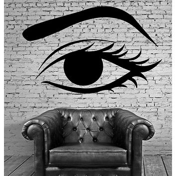 Female Woman Eye Make Up Hot Sexy Mural Wall Art Decor Vinyl Sticker Unique Gift z588
