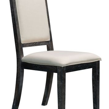 Skyline Dining Chair Distressed Gray & Beige (set of 2)
