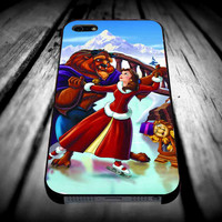 Beauty and The Beast Christmas for iPhone 4/4s/5/5s/5c/6/6 Plus Case, Samsung Galaxy S3/S4/S5/Note 3/4 Case, iPod 4/5 Case, HtC One M7 M8 and Nexus Case ***