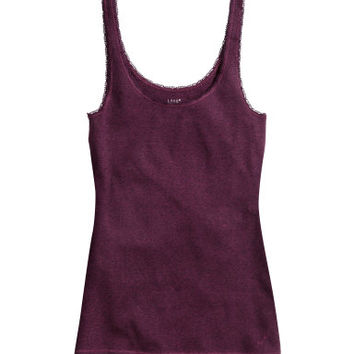 H&M Tank Top with Lace Trim $9.99