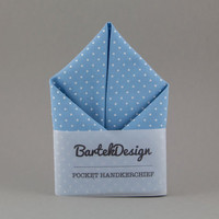 Baby Blue Pocket Square Soft Blue Handkerchief for Men Wedding Hankie for Men Gift for Groomsmen Gift for Men Mens Pocket Square