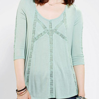 Kimchi Blue Lace Inset Frock Top