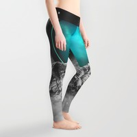 Fade Away (Lunar Eclipse) Leggings by Soaring Anchor Designs