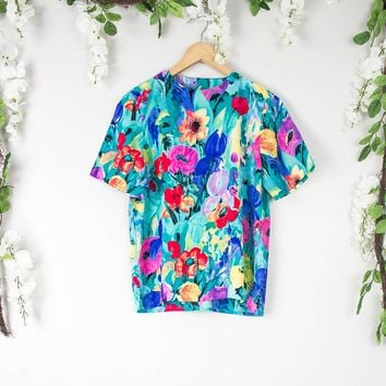 Vintage Watercolor Colorful Top