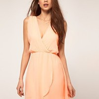 TFNC Chiffon Dress With Wrap Front at asos.com