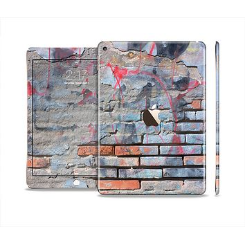 The Blue Chipped Graffiti Wall Skin Set for the Apple iPad Pro