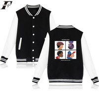 LUCKYFRIDAYF Stranger Things Hot Sale College Baseball Jacket Women in Things Plus Size WinterJacket Women Down Cotton Coat 4XL