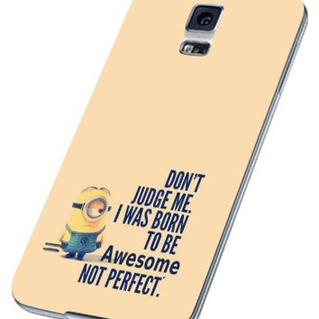 Cute Minion Quotes Despicable Me Samsung Galaxy S4 S5 S6 Case (samsung s5 white)