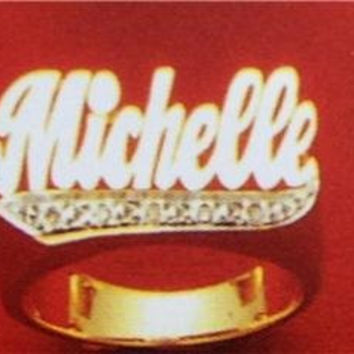 14k gold overly  any Name Rings letters personalized jewelry/gifts/a11