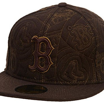New Era Boston Red Sox Fitted Hat Mens Style: HAT763-BROWN Size: 7