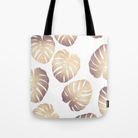 Pastel monstera Tote Bag by Printapix