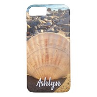 California sandy beach seashell photo custom name iPhone 8/7 case