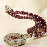 Garnet Amulet Necklace