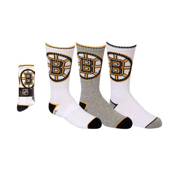 Boston Bruins Youth Crew Socks | x 3