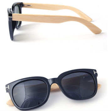 100% Natural Handmade Wood Frame Wayfarer Style Sunglasses 07