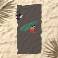 Hey Mickey, you don't look so fine Beach Towel by lalainelim