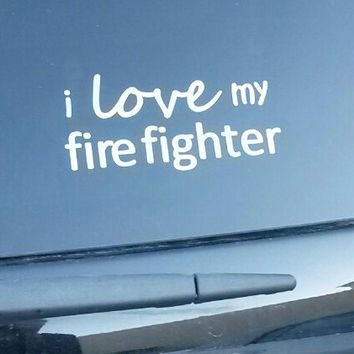 I love my fire fighter vinyl decal also for marine, hunter, etc