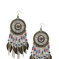 Jules Leaf And Bead Statement Earrings