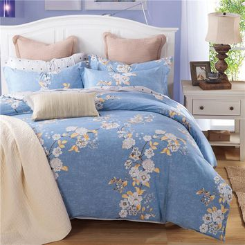 Unihome 100% Cotton Duvet Cover Sets, Print Floral Pattern Design, Full Queen Size Bedding set(MYMQ)