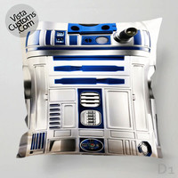 Star Wars R2D2 Pillow Case, Chusion Cover ( 1 or 2 Side Print With Size 16, 18, 20, 26, 30, 36 inch )