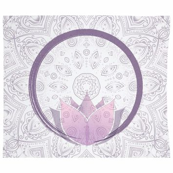 Purple Lotus Mandala Tapestry Walll Hanging Boho Design