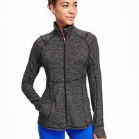Go-Dry Cool Herringbone Compression Jacket for Women | Old Navy