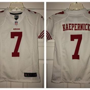 VLX9RV Sale!! Vintage Nike San Francisco SF 49ers Football Jersey NFL Shirt #7 Kaepernick
