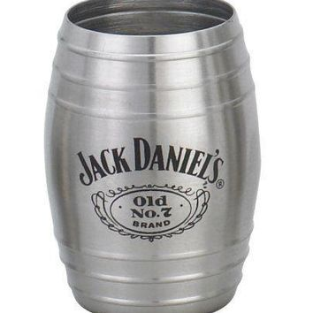 Jack Daniels Whiskey Barrel Shot Glass Stainless Steel Old No 7 Brand New