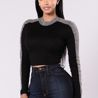 Undivided Attention Top - Black