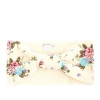FLORAL PRINT BOW HEADWRAP