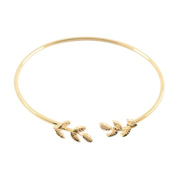 Women Stylish Leaves Cuff Women Bracelet Delicate Leaf Open Bangle Bracelet GD