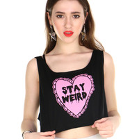 STAY WEIRD LOOSE CROP TOP