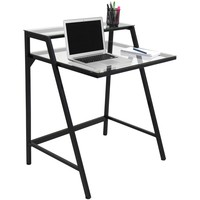 2-Tier Desk Black, Clear