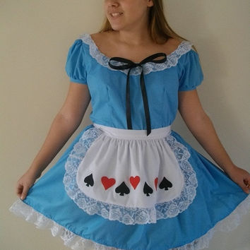 Alice in wonderland inspiration mjcreation costume cosplay made to order