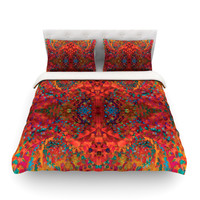 "Nikposium ""Red Sea"" Queen Cotton Duvet Cover - Outlet Item"