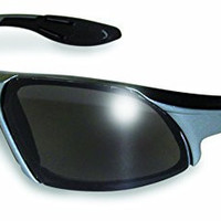 Global Vision Eyewear Code-8 Series Sunglasses with Grey Frame and Smoke Safety Lenses
