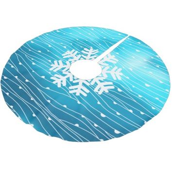 Northern Lights, Arctic Brushed Polyester Tree Skirt