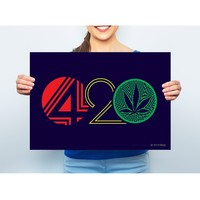 420 Rasta Marijuana Leaf Poster By StonerDays 13x19""
