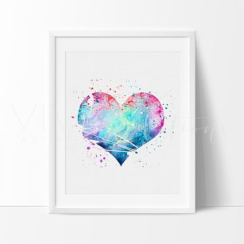 Heart Watercolor Art Print