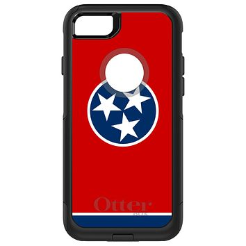 DistinctInk™ OtterBox Commuter Series Case for Apple iPhone or Samsung Galaxy - Tennessee State Flag