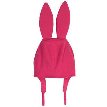 Bob's Burgers Louise Ears Cosplay Official Licensed Adult Costume Cap Hat - Pink